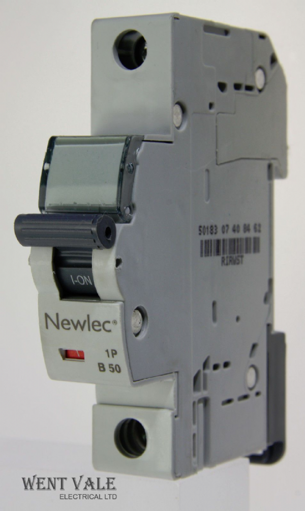 Newlec - NLMB150BA - 50a Type B Single Pole MCB Latest Model NEW